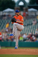 Syracuse Mets pitcher Drew Gagnon (40) during an International League game against the Indianapolis Indians on July 16, 2019 at Victory Field in Indianapolis, Indiana.  Syracuse defeated Indianapolis 5-2  (Mike Janes/Four Seam Images)