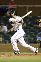 Salt River Rafters infielder Austin Nola (9) during an Arizona Fall League game against the Scottsdale Scorpions on October 7, 2014 at Salt River Fields at Talking Stick in Scottsdale, Arizona.  Scottsdale defeated Salt River 7-4.  (Mike Janes/Four Seam Images)