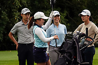 The Keh sisters, Siyi, Wenyung and Munchin. Day one of the Brian Green Property Group NZ Super 6s Manawatu at Manawatu Golf Club in Palmerston North, New Zealand on Thursday, 25 February 2021. Photo: Dave Lintott / lintottphoto.co.nz