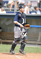 Michael Valadez of the Mahoning Valley Scrappers, Class-A affiliate of the Cleveland Indians, during the New York-Penn League season.  Photo by:  Mike Janes/Four Seam Images