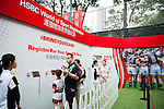 Guest attends the HSBC Sevens Village as part of the Cathay Pacific / HSBC Hong Kong Sevens at the HSBC Sevens Village on 27 March 2015 in Hong Kong, China. Photo by Moses Ng  / Power Sport Images