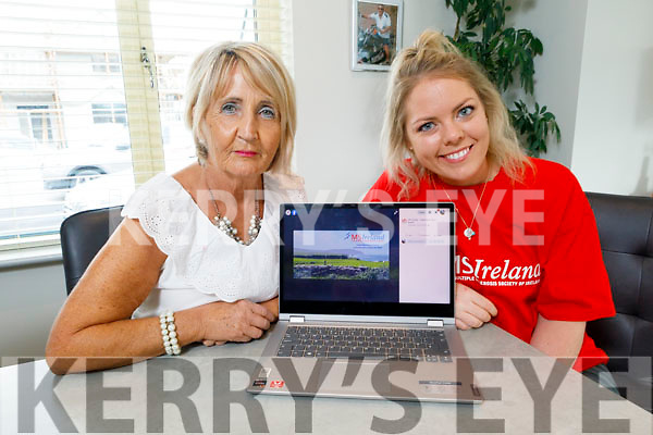 Audrey Moran and Susan Carey launching the MS Kerry Branch Ita Barry Memorial Virtual Walk on Tuesday and its going ahead on the 27th of September.