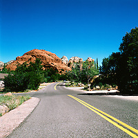 Sedona, Arizona, USA - 'Coffee Pot Rock' at the End of the Road, in Red Rock Country