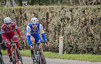 Tom Boonen (BEL/Quickstep) clearly showing the results of 2 earlier crashes<br /> <br /> 72nd Omloop Het Nieuwsblad 2017