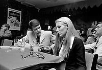 """Conference de presse pour la presentation du film """"Valerie"""", de Denis Heroux, mettant en vedette, Danielle Ouimet, le 5 aout 1969.<br /> <br /> Photo : Photo Moderne<br /> © Agence Quebec Presse"""