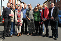 NEWPORT, GWENT, UK 30th March.  Labour leader Jeremy Corbyn joins activists for a day of canvassing for Labour candidate Ruth Jones in the Newport West by election on 4th April. (Jeff Thomas   MI News)