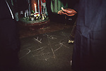 Mount Zion Spiritual Baptist Church. Uk. Spirit writing at the funeral of Bishop Noel. 1990s