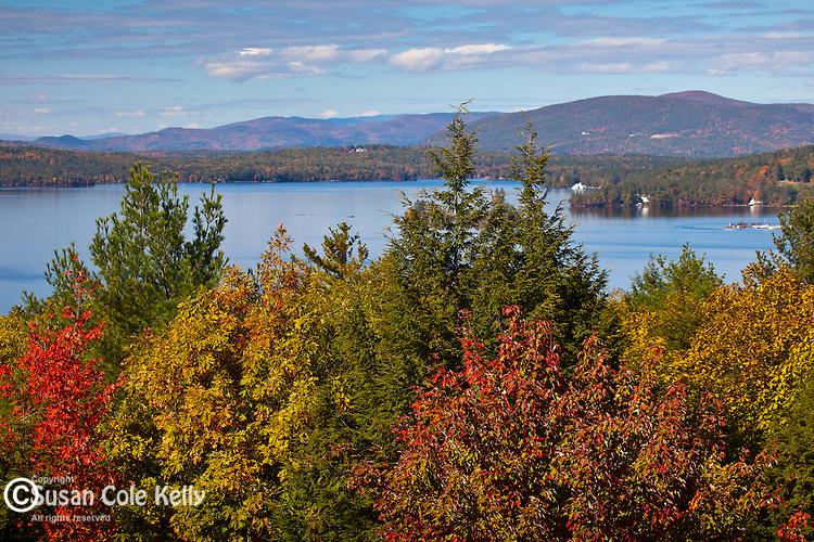 View of Lake Winnipesaukee from Abenaki Tower, Wolfeborough, NH, USA