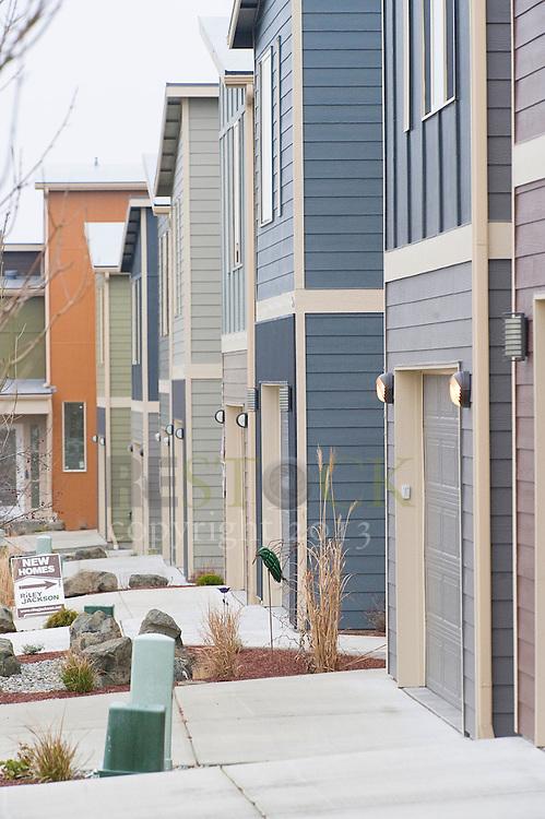 Back of New Modern Homes