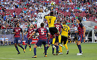 Santa Clara, CA - Wednesday July 26, 2017: Tim Howard during the 2017 Gold Cup Final Championship match between the men's national teams of the United States (USA) and Jamaica (JAM) at Levi's Stadium.