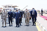 Egyptian President Abdel Fattah el-Sisi, inspects the readiness of the armed forces personnel, equipment and crews to help the civil sector in the country to combat the spread of the coronavirus disease (COVID-19) in Cairo, Egypt on April 7, 2020. Photo by Egyptian President Office