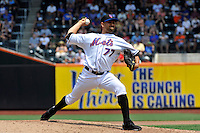 New York Mets pitcher D.J. Carrasco #77 during a game against the St. Louis Cardinals at Citi Field on July 21, 2011 in Queens, NY.  Cardinals defeated Mets 6-2.  Tomasso DeRosa/Four Seam Images