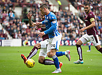 Hearts v St Johnstone...02.08.15   SPFL Tynecastle, Edinburgh<br /> Blazej Augustyn tackles Michael O'Halloran<br /> Picture by Graeme Hart.<br /> Copyright Perthshire Picture Agency<br /> Tel: 01738 623350  Mobile: 07990 594431