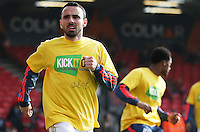 Leon Britton of Swansea City warms up before the Barclays Premier League match between AFC Bournemouth and Swansea City played at The Vitality Stadium, Bournemouth on March 11th 2016