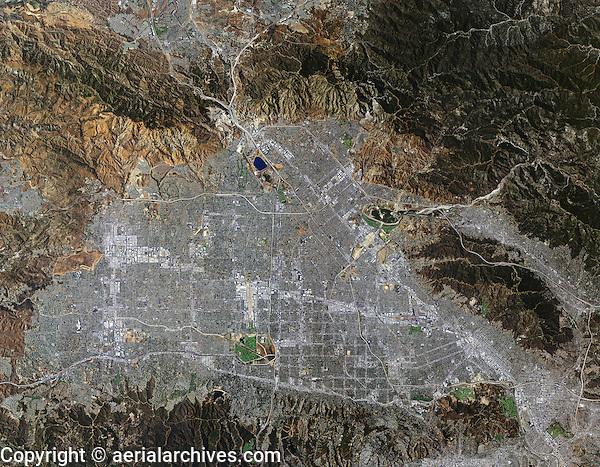 aerial photo map of San Fernando Valley, California