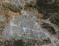 aerial photo map of San Fernando Valley, California
