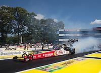 Jun. 2, 2013; Englishtown, NJ, USA: NHRA top fuel dragster driver Doug Kalitta during the Summer Nationals at Raceway Park. Mandatory Credit: Mark J. Rebilas-