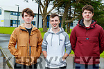 Tiomóid Grimes, Sean Hennessy and John McCrohan, students from Mercy Mounthawk Secondary School, Tralee, who received their Leaving Certificate results on Monday last.