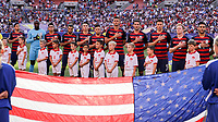 Cleveland, OH - Saturday July 15, 2017: USMNT starting eleven vs Nicaragua during a 2017 Gold Cup match between the men's national teams of the United States (USA) and Nicaragua (NCA) at FirstEnergy Stadium.