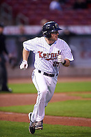 Cedar Rapids Kernels designated hitter A.J. Murray (25) during the second game of a doubleheader against the Kane County Cougars on May 10, 2016 at Perfect Game Field in Cedar Rapids, Iowa.  Cedar Rapids defeated Kane County 3-2.  (Mike Janes/Four Seam Images)