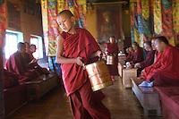Monks at Diskit Monastery.