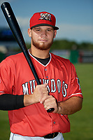 Batavia Muckdogs Andres Sthormes (44) poses for a photo before a NY-Penn League game against the West Virginia Black Bears on June 26, 2019 at Dwyer Stadium in Batavia, New York.  Batavia defeated West Virginia 4-2.  (Mike Janes/Four Seam Images)