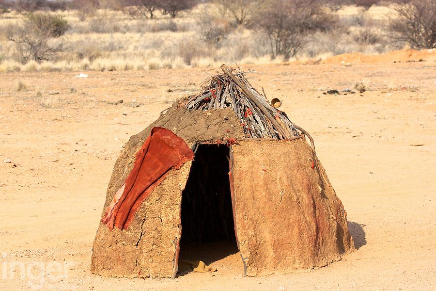 Himba Mud Hut in Namibia