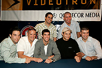 June 21 2005, Montreal (Qc) Canada<br /> Eric Lucas and other boxers at Interboxe Press Conference, June 21 2005<br /> <br /> Eric Lucas may be disputing a match in Germany<br /> Photo : (c) 2005 Pierre Roussel
