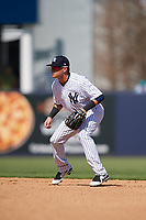 New York Yankees shortstop Diego Castillo (83) during a Grapefruit League Spring Training game against the Toronto Blue Jays on February 25, 2019 at George M. Steinbrenner Field in Tampa, Florida.  Yankees defeated the Blue Jays 3-0.  (Mike Janes/Four Seam Images)