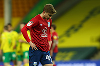 6th April 2021; Carrow Road, Norwich, Norfolk, England, English Football League Championship Football, Norwich versus Huddersfield Town; A dejected Scott High of Huddersfield Town after the 7-0 loss