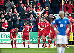 St Johnstone v AberdeenÖ23.02.19Ö  McDiarmid Park    SPFL<br /> Graeme Shinnie celebrates with the Aberdeen fans<br /> Picture by Graeme Hart. <br /> Copyright Perthshire Picture Agency<br /> Tel: 01738 623350  Mobile: 07990 594431