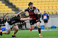 Mitchell Drummond of Canterbury is tackled by Dane Coles of Wellington during the Bunnings NPC - Wellington v Canterbury at Sky Stadium, Wellington, New Zealand on Friday 8 October 2021.<br /> Photo by Masanori Udagawa. <br /> www.photowellington.photoshelter.comto