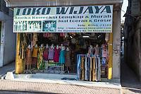 Bali, Indonesia.  Women's Clothing Store, Klungkung, Semarapura.