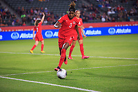 CARSON, CA - FEBRUARY 07: Kadeisha Buchann #3 of Canada moves with the ball during a game between Canada and Costa Rica at Dignity Health Sports Park on February 07, 2020 in Carson, California.
