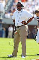 Oct 2, 2010; Charlottesville, VA, USA; Virginia head coach Mike London during the game against the Florida State Seminoles at Scott Stadium. Florida State won 34-14.  Mandatory Credit: Andrew Shurtleff-