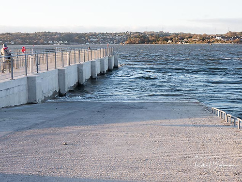 Paddy's Point slipway - The highly useful pier and extra wide slipway comprise concrete decks on concrete or tubular steel piles Photo: Bob Bateman