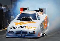Jul. 31, 2011; Sonoma, CA, USA; NHRA funny car driver Brian Thiel during the Fram Autolite Nationals at Infineon Raceway. Mandatory Credit: Mark J. Rebilas-