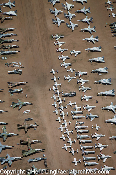 Aircraft boneyard, Davis Monthan Air Force Base Tucson Arizona