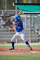 GCL Mets second baseman Pedro Ventura (75) at bat during a game against the GCL Cardinals on July 23, 2017 at Roger Dean Stadium Complex in Jupiter, Florida.  GCL Cardinals defeated the GCL Mets 5-3.  (Mike Janes/Four Seam Images)