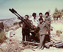 Lebanon 1980 Right, in front Azad Sagerma and a douchka 23 mm. With him,  peshmergas and Palestinians in a training camp<br /> Liban 1980 A droite, 1er rang, Azad Sagerma avec une Douchka de 23mm. Avec lui des peshmergas et des Palestiniens dans un camp d'entrainement