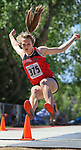 STURGIS, SD: MAY 25:  Nykki Husman of Yankton in the long jump during the 2018 South Dakota State High School Track Meet at Woodle Field in Sturgis, S.D.  (Photo by Dick Carlson/Inertia)