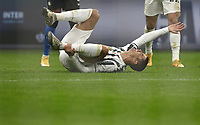 Calcio, Serie A: Inter Milano - Juventus FC , Giuseppe Meazza (San Siro) stadium, in Milan, January 17, 2021.<br /> Juventus' Cristiano Ronaldo reacts during the Italian Serie A football match between Inter and Juventus at Giuseppe Meazza (San Siro) stadium, January 17,  2021.<br /> UPDATE IMAGES PRESS/Isabella Bonotto