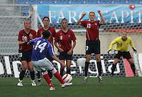 MAR 13, 2006: Faro, Portugal:  Kristine Lilly, Carli Lloyd, Shannon Boxx, Abby Wambach