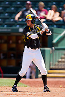 Don Lambert (3) of the Wichita State Shockers at bat during a game against the Missouri State Bears in the 2012 Missouri Valley Conference Championship Tournament at Hammons Field on May 23, 2012 in Springfield, Missouri. (David Welker/Four Seam Images)