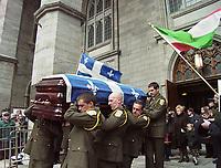 Funerailles de Camille Laurin, <br /> le 16 Mars 1999 <br /> a la Basilique Notre-Dame<br /> <br /> PHOTO : Agence Quebec Presse - Pierre Roussel<br /> <br /> NOTE : Photo numerique