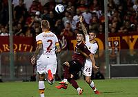 29th August 2021;  Estadio Arechi, Salerno, Campania, Italy;  Serie A Football league, Salernitana versus Roma;  Gianluca Mancini of AS Roma challenges for the high ball