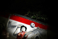 CHINA. Beijing. An Olympic themed mural . 2008