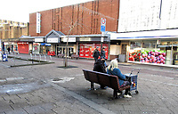 Bedford's empty town centre streets and closed businesses during the Covid-19 National Lockdown. Bedford, UK January 11th 2021<br /> <br /> Photo by Keith Mayhew