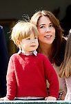 16-04-2014 Balcony 74th birthday of the Danish Queen at Marselisborg Castle in Aarhus. <br />
