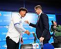 Shun Yamaguchi, Toronto Blue Jays newly-signed pitcher news conference
